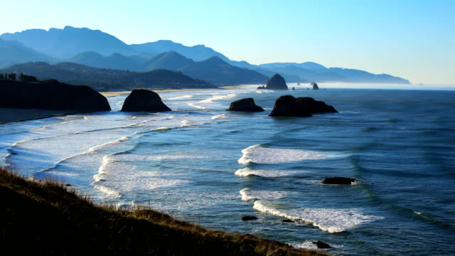 cannon beach, or - cannon beach stock videos & royalty-free footage