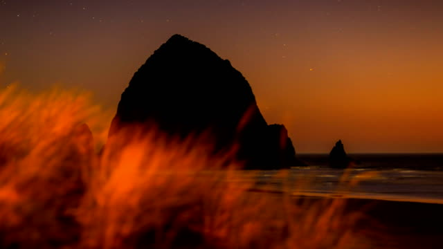 cannon beach, or - oregon coast stock videos & royalty-free footage