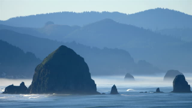 cannon beach, or - pacific northwest usa stock videos & royalty-free footage