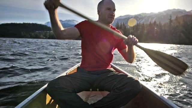 Canoeing at sunrise