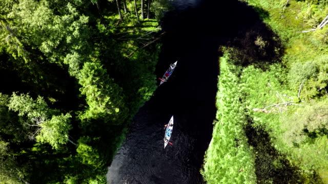 paddla kanot i vildmarken - kanot bildbanksvideor och videomaterial från bakom kulisserna