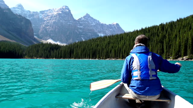 Canoeing on Mountain Lake