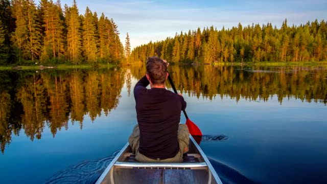 canoeing - activity stock videos & royalty-free footage