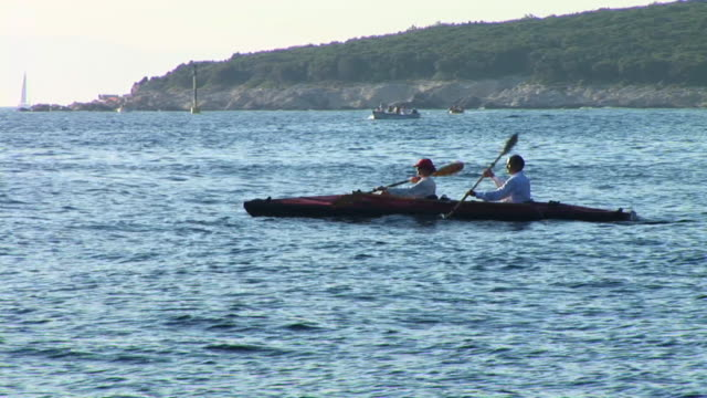 hd: canoing - adriatic sea stock videos & royalty-free footage