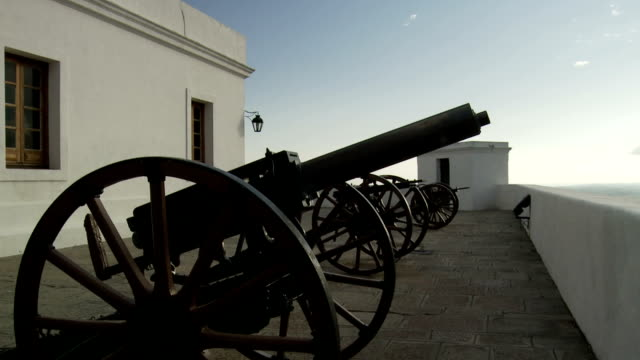 canon in a fort - artillery stock videos & royalty-free footage