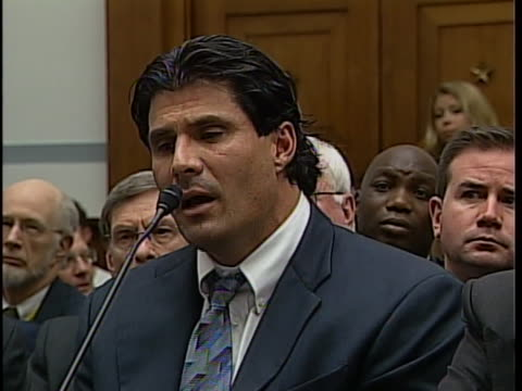 of canseco former major league baseball outfielder and designated hitter jose canseco comments on why he took steroids during a hearing conducted by... - rafael palmeiro stock videos & royalty-free footage