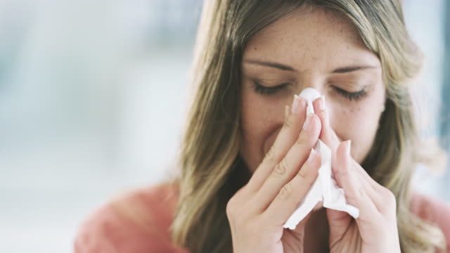 i can't stop blowing my nose - allergy stock videos & royalty-free footage