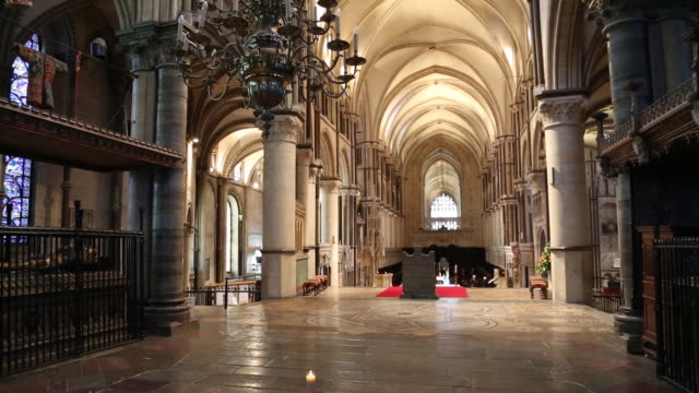 canterbury cathedral, trinity chapel and the site of shrine. - cathedral stock videos & royalty-free footage
