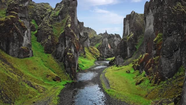 canyon in an idyllic and wilderness nature - extreme terrain stock videos & royalty-free footage