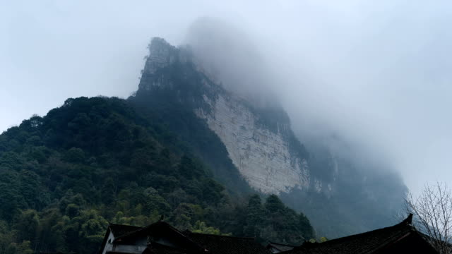 canyon in the west of china's western hunan - granite stock videos and b-roll footage
