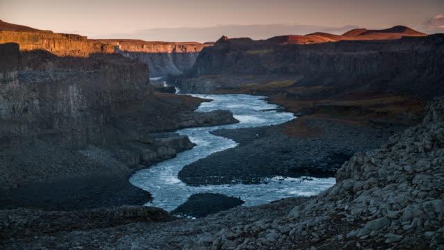 Canyon near Dettifoss in Iceland - Sunrise
