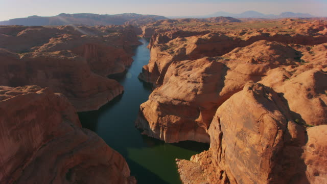 aerial canyon of lake powell, usa - lake powell stock videos & royalty-free footage