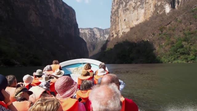 canyon of sumidero - canyon video stock e b–roll