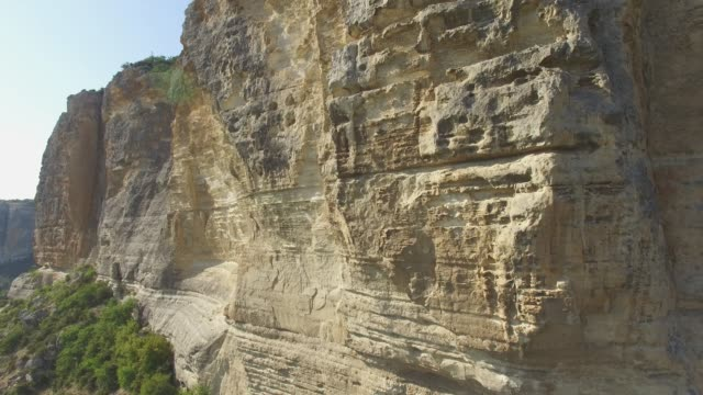 aerial: canyon with steep cliffs - multicopter stock videos & royalty-free footage