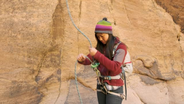 canyoneering in moab, utah - climbing equipment stock videos and b-roll footage