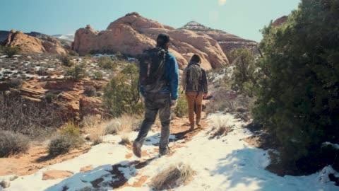 canyoneering in moab, utah - moab utah stock videos & royalty-free footage