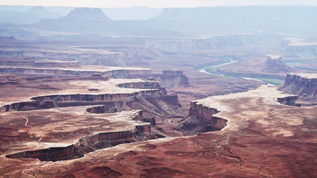 canyonland landscape zoom - monument stock videos & royalty-free footage