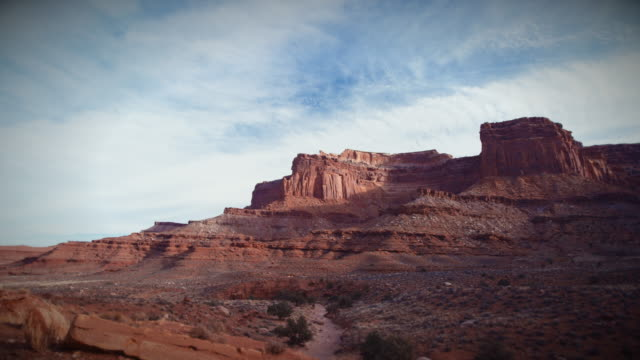 canyonlands time lapse with clouds and ridge - canyonlands national park stock videos & royalty-free footage