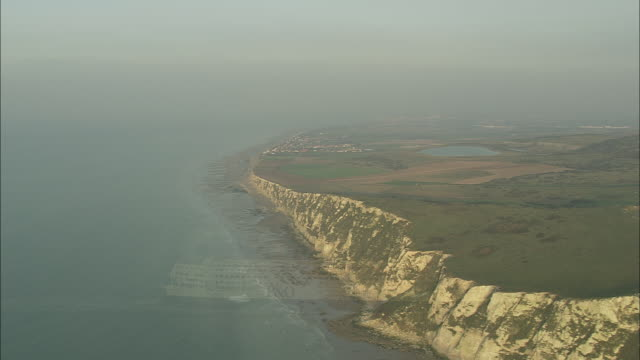 cap blanc nez and ships in channel at sunset - calais stock videos and b-roll footage