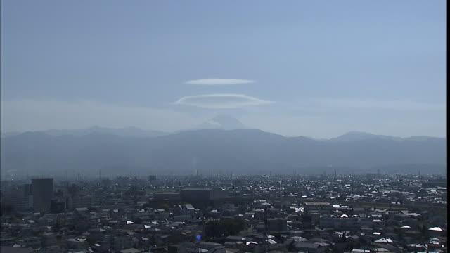 a cap cloud hangs above mt. fuji. - cloud computing stock videos & royalty-free footage