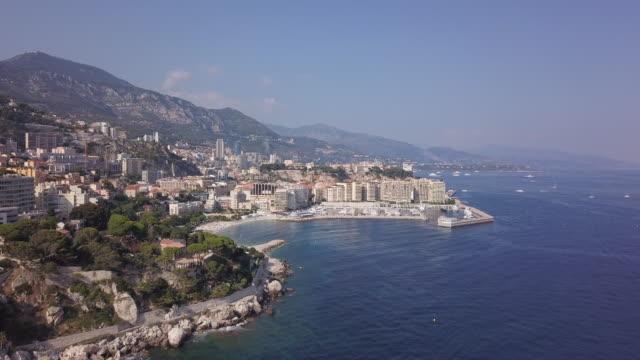 Cap d'Ail coastline, aerial