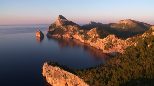 Cap de Formentor at the north coast of Mallorca at sunset..