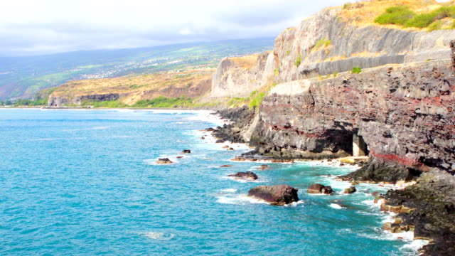cap de la houssaye - reunion island - french overseas territory stock videos and b-roll footage