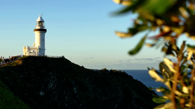 cape byron lighthouse in byron bay, australia - coastal feature stock videos & royalty-free footage