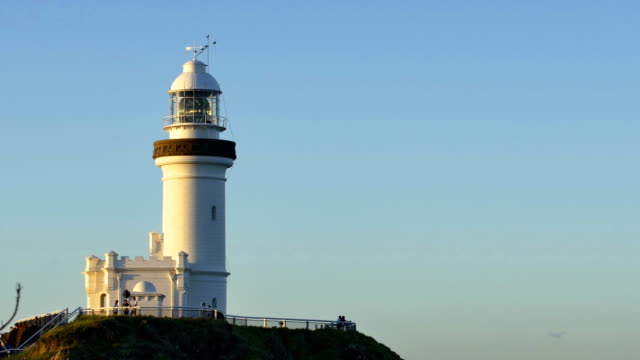 cape byron lighthouse in byron bay, australia - lighthouse stock videos & royalty-free footage