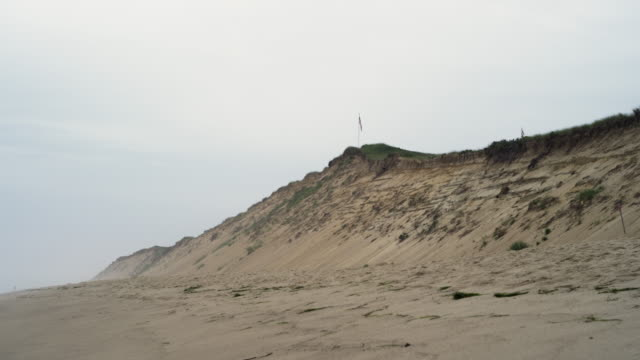 cape cod national sea shore beach with surf and sky and dunes