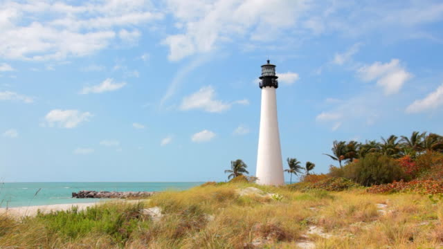 cape florida lighthouse - biscayne bay stock videos and b-roll footage