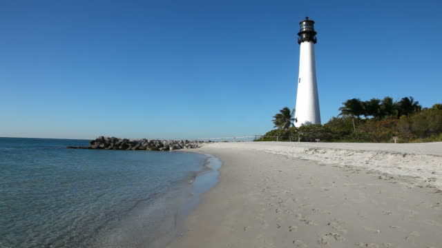 cape florida lighthouse - miami dade county stock videos and b-roll footage