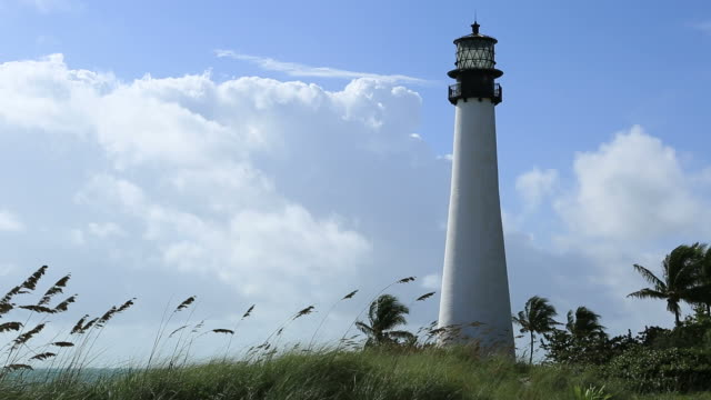 cape florida lighthouse - biscayne bay stock videos & royalty-free footage