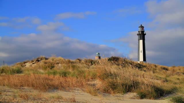 cape henry lighthouse, va - marram grass stock videos and b-roll footage