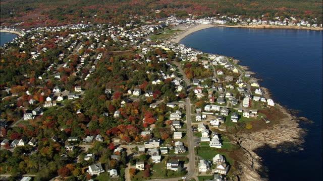 Cape Neddick  - Aerial View - Maine,  York County,  United States
