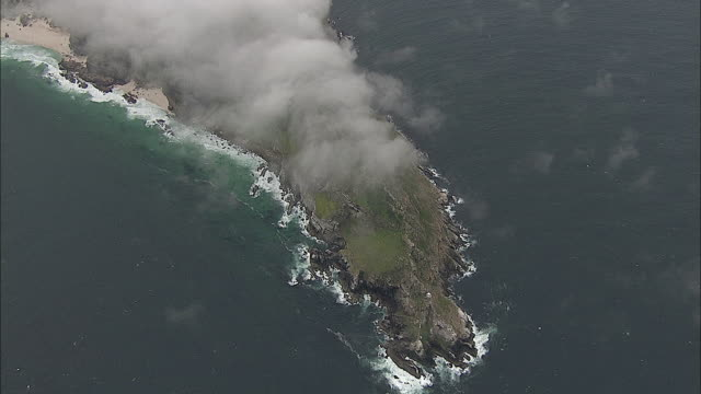 aerial cape of good hope covered with clouds, western cape, south africa - hope stock videos and b-roll footage