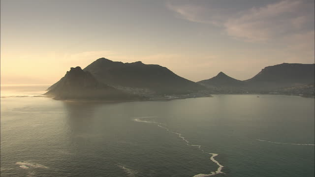 Cape Peninsula is seen at golden hour.