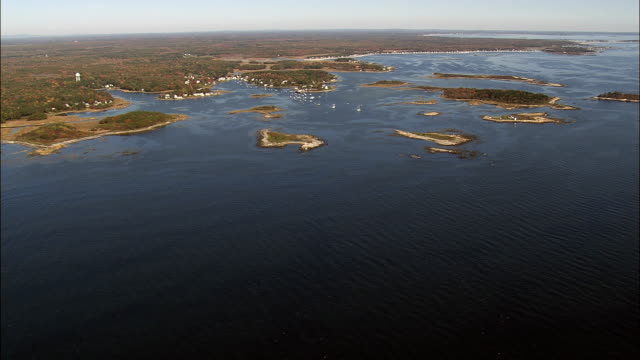 Cape Porpoise And Islands  - Aerial View - Maine,  York County,  United States