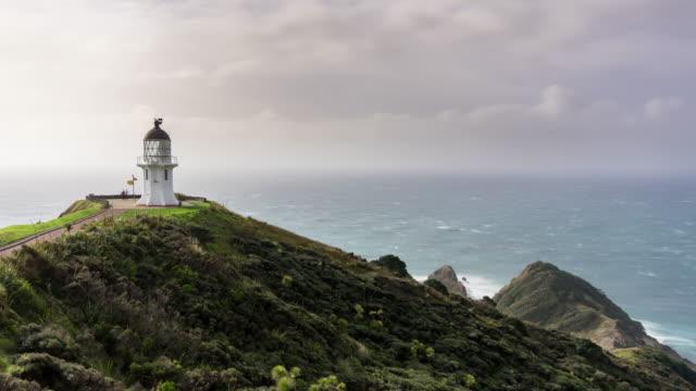 vidéos et rushes de phare de cape reinga - time lapse - région du northland