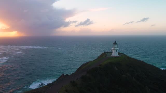 vidéos et rushes de cap reinga nord de la nouvelle-zélande. - région du northland