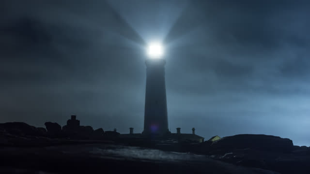 Cape St. Francis Bay lighthouse - time-lapse - part-3 day to night transition