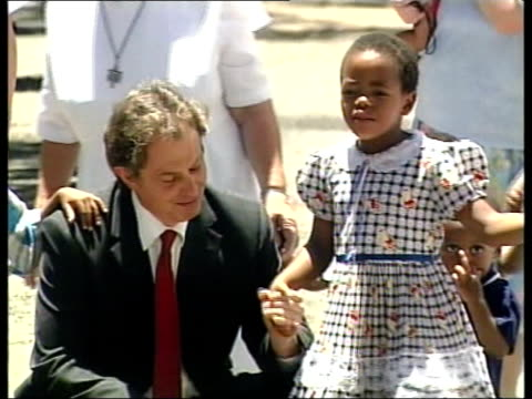 Cape Town Blair meeting children with AIDS