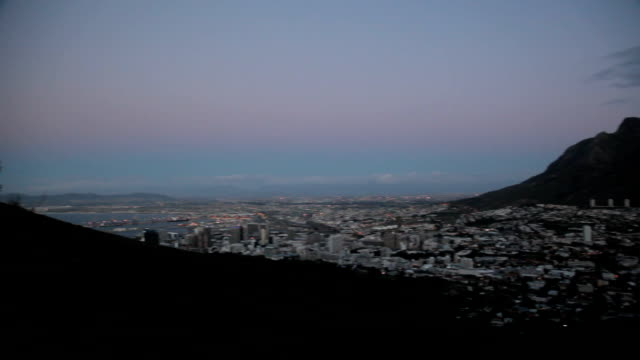 WS PAN Cape Town CBD at dusk from Signal Hill, Cape Town, South Africa
