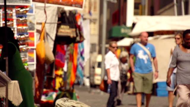 zeitlupe-cape town market place - kiosk stock-videos und b-roll-filmmaterial