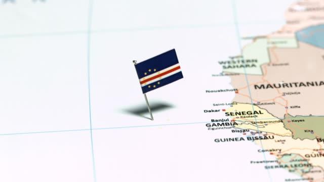 vídeos y material grabado en eventos de stock de cabo verde con la bandera nacional - cabo verde