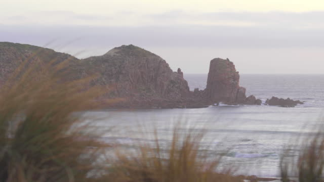 cape woolamai coastal feature at dusk - coastal feature stock-videos und b-roll-filmmaterial