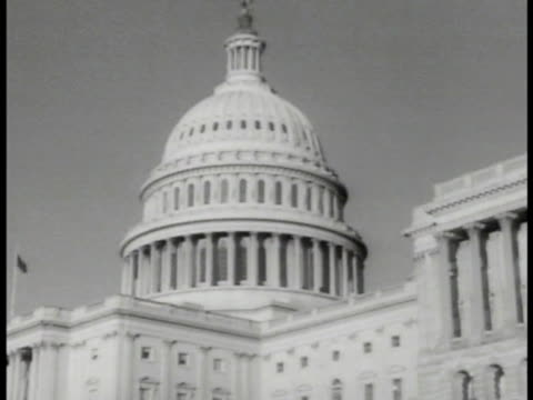 capital building. int members sitting in senate house . reprisal: wendell willkie 'all americans are of one purpose... no disagreement about the... - 1940 stock videos & royalty-free footage