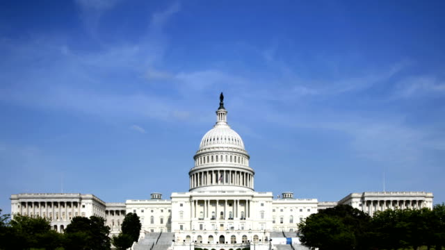 capital building time lapse - dome stock videos & royalty-free footage