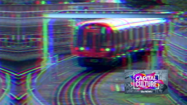 london gir int reporter to camera sot various shots of tube trains along tracks with 'capital culture' watermark int close shot of 'baby on board'... - railway track stock videos & royalty-free footage