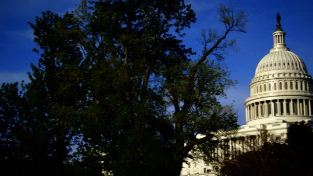 アメリカの首都で春の時間のパン - アメリカ憲法点の映像素材/bロール